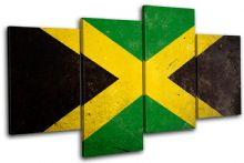 Abstract Jamaican Maps Flags - 13-1171(00B)-MP04-LO